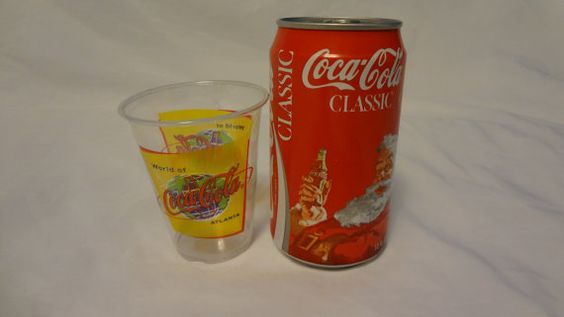 1986 Santa Coca Cola Can with World of Coca by CastoffTreasures