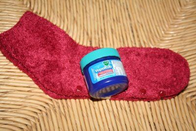 If you or your kids have a cough, generously rub some Vicks Vaporub on their feet before bedtime, cover with socks, and it just opens their airways through the night and there is no coughing.