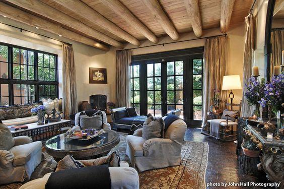 Living room in Santa Fe - by designer Moll Anderson