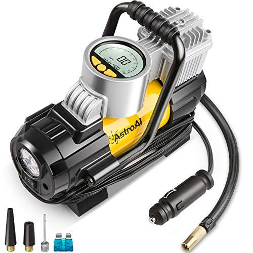 Astroai Portable Air Compressor Pump Digital Tire Inflator 12v Dc