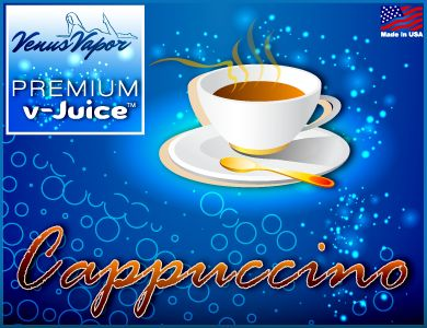 """Cappuccino - Reg. price $5.99 #CyberMonday: 45% off! Use code """"cybermonday"""" at checkout. #ejuice #vaping #ecigs http://www.venusvapor.com/product/cappuccino/"""