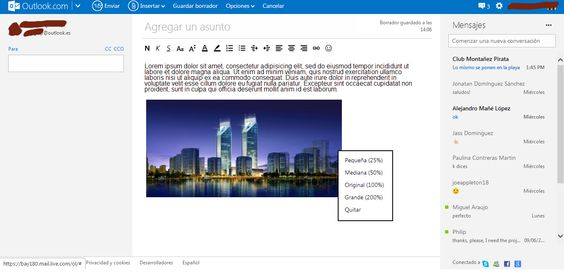 Cómo enviar imágenes y archivos con Hotmail (Outlook.es)  Leer Mas Aqui: http://correotech.com/como-enviar-imagenes-con-hotmail-outlook-es.html#ixzz37jV7FzoP  Under Creative Commons License: Attribution Non-Commercial No Derivatives  Follow us: @Miguel_Araujo_S on Twitter