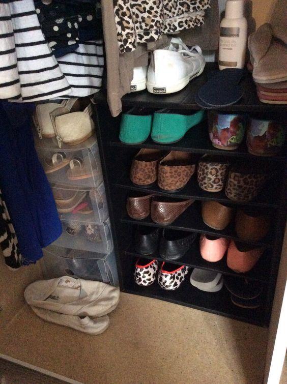 Use a Filing Box as Shoe storage!