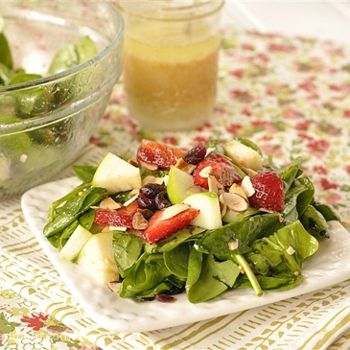 , Fruit and Spinach Salad | Recipes - Salads | Pinterest | Spinach ...