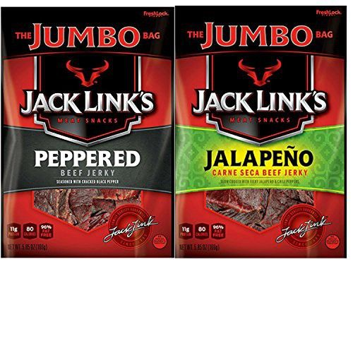 Jack Links Jumbo Variety Pack With Jack Links Peppered Beef Jerky And Jalapeno Carne Seca Beef Jerky Convenient One Stop Shopping A Perfect Choice For Protein Stuffed Peppers Beef Jerky Low Carb