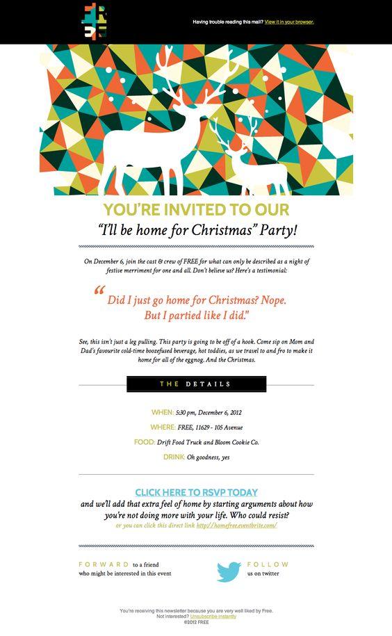 Invitation eDM layout by FREE Web Design – Free Invitation Layouts
