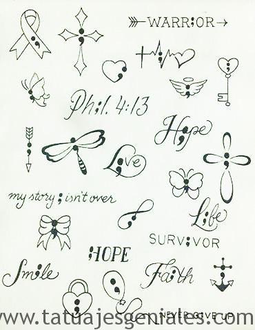 Que Significado Tienen Los Tatuajes De Punto Y Coma Tatuajes De