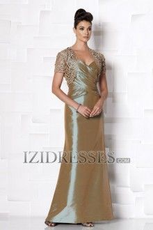Sheath/Column Straps Taffeta Mother of the Bride Dress