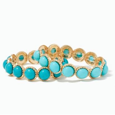 pretty turquoise stone stretch bracelets