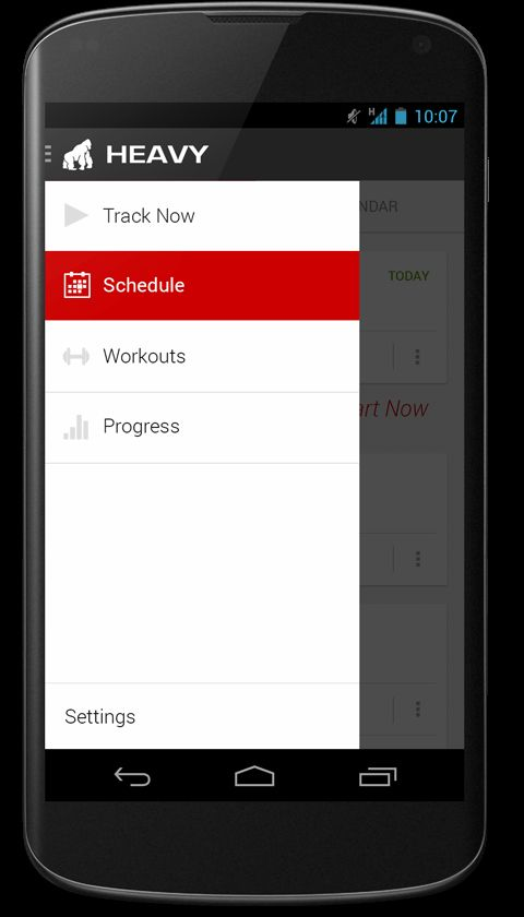 HEAVY: The Android bodybuilding app for weightlifters looking to track their workouts.