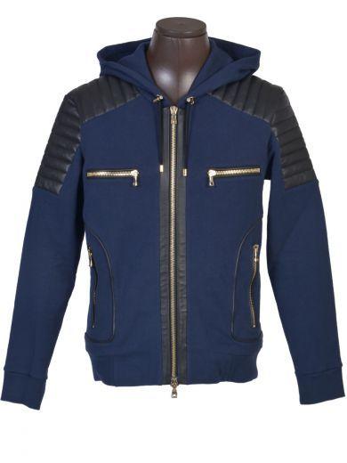 BALMAIN Balmain Sweat Blue. #balmain #cloth #fleeces-tracksuits