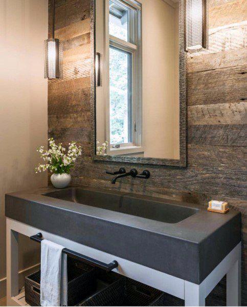 Top 70 Best Wood Wall Ideas Wooden Accent Interiors Accent Ideas Interiors Top Wall Wood Woo In 2020 Barn Wood Bathroom Small Half Bathrooms Wood Wall Bathroom