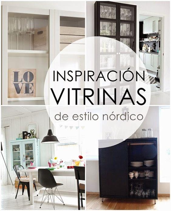 Ideas para comedor vitrinas y estanter as de estilo for Estanterias estrechas ikea
