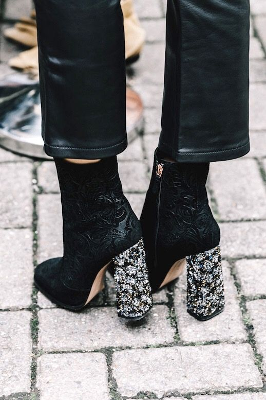 Shoes / Bottines / Inspiration / Talon / Carré / Mode / Street / Style / Fashion / Chaussures