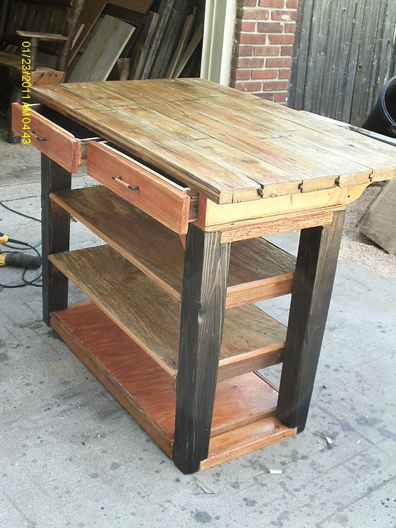 Handmade rustic log furniture for a kitchen island or for Custom made furniture