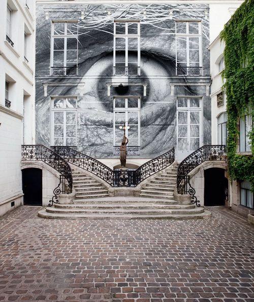 Street Art of JR. Via www.graffitiartmagazine.com