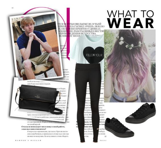"""""""On a date with Sam"""" by fangirlsfandom ❤ liked on Polyvore featuring adidas, Converse, Kate Spade, women's clothing, women's fashion, women, female, woman, misses and juniors"""