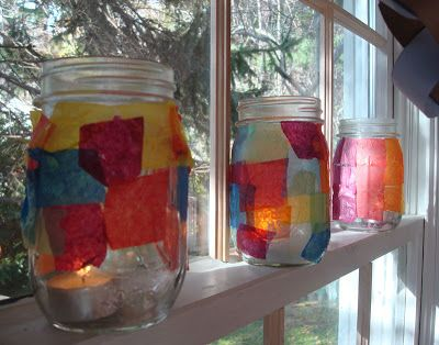 Here are some ideas for lighting up your 12 days of light!  Eileen on Him made these milk jug lanterns to light each day. The Flat on Cabaniss Crescent had the idea to make her lanterns from glass …
