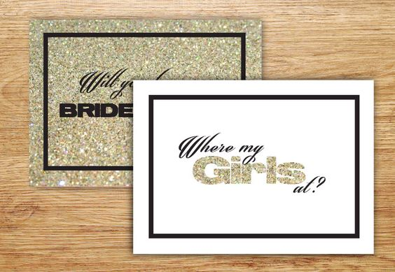 A personal favorite from my Etsy shop https://www.etsy.com/listing/219343982/will-you-be-my-bridesmaid-invitation
