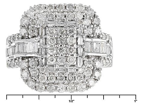 Diamond 10k White Gold Ring 1 85ctw White Gold Rings White Gold Diamond