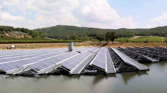I più grandi impianti solari galleggianti #energYnnovation #acqua