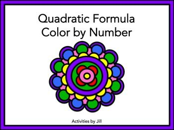 Quadratic Formula Color by Number | Activities, Colors and ...