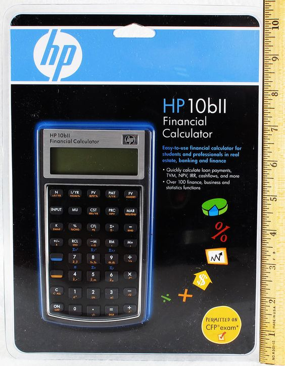 HP 10BII Financial Calculator New Hewlett Packard Business - financial calculator
