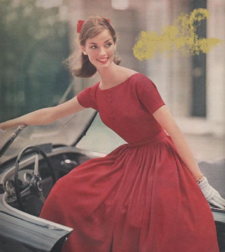 Dolores Hawkins. You can make this dress with 1958 Party Dress pattern. Http://sensibility.com