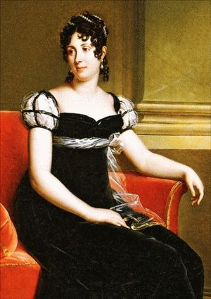Désirée Bernadine Eugénie Clary by Robert Lefevre, ca 1810 Sweden:  Napoleon's first fiancee, and mother-in-law of Josephine's namesake grand-daughter--they were both queens consort of Sweden.: