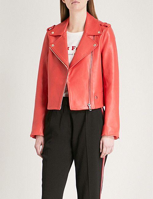 Claudie Pierlot Biker Collar Leather Jacket Collar Leather Jacket Leather Jacket Jackets