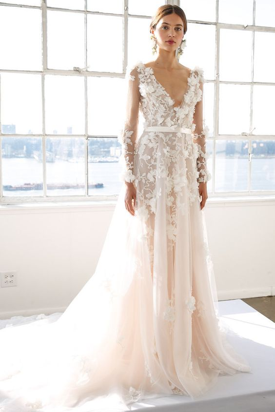 Your Guide To 2017 S Biggest Wedding Dress Trends Wedding Dress Trends Marchesa Bridal Big Wedding Dresses