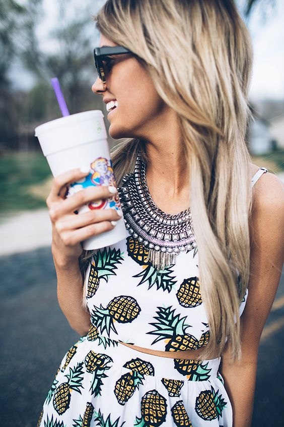 Pineapple never looked so sweet! Adorable two-piece pineapple set! #fashion #style