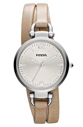 Fossil Georgia Faux Wrap Leather Strap Watch, 32mm | Nordstrom (I don't wear watches, but I'm thinking about it.)