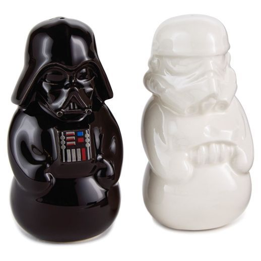 Star Wars™ Salt and Pepper Shaker Set- http://shop.hallmark.com/gifts/kitchen/kitchen-accessories/star-wars-salt-and-pepper-shaker-set-1XKT1530.html: