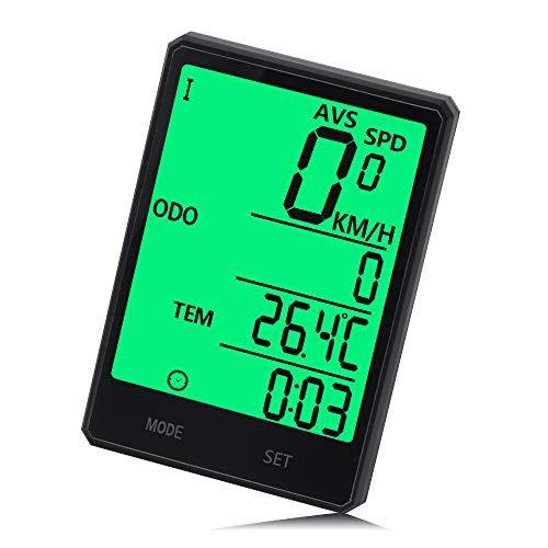 Bicycle Solar Energy Large Screen Odometer Bike Backlight Clock Speedometer