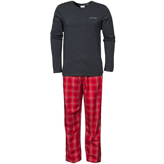 PJ Pant W L/S Crew, Calvin Klein Underwear ❤ liked on Polyvore featuring intimates, pj pants and calvin klein