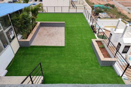 Pin By Maverick Turf Corporation Llp On Www Maverickturf Com Terrace Garden Synthetic Grass Artificial Lawn