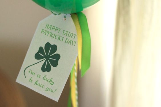 I'm so lucky to have you printable: Balloon Ideas, Balloon Tags, Patricks Tags