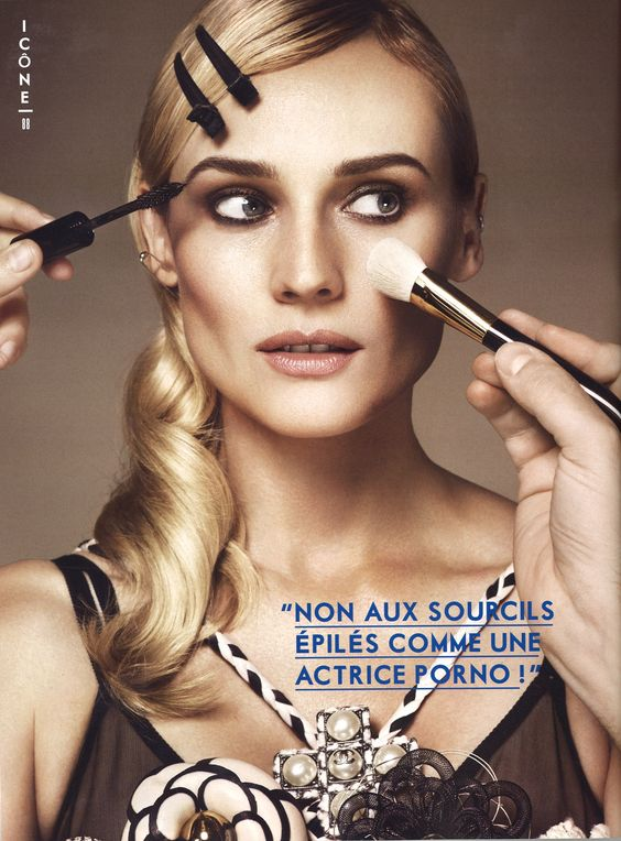 Diane Kruger wearing Eres Lingerie featured in Glamour
