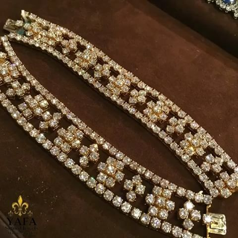 Two #VCA bracelets which can be worn separately, or joined together to form a magnificent necklace - you choose! Contact us for details. #YafaSignedJewels #vancleef #forsale #vintage #vintagejewelry #signedjewelry #newyork #palmbeach #authentic