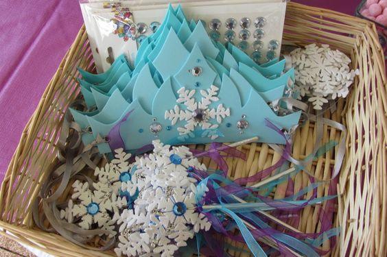 ❄ Anniversaire Reine des Neiges ❄ Bricolage à faire avec les invitées ❄