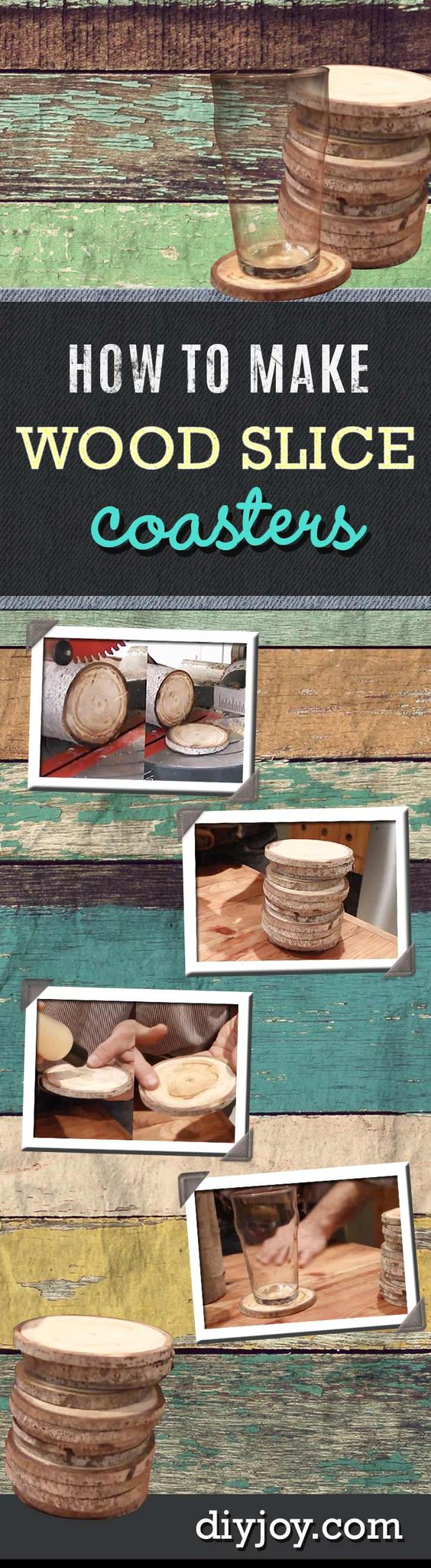 DIY Coasters from Wood Slices Wood Slices, Woods and Diy Wood