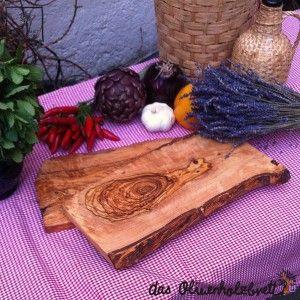 #Rustikales #Brotzeitbrett, #Frühstücksbrett aus #Olivenholz, rechteckige Form, Frühstücksbrett mit #Rinde #olive #wood, #wood, #cutting board #breakfast