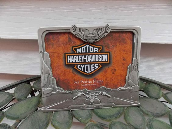 harley davidson classic art glass picture frame by domesticbin harley davidson picture frames pinterest harley davidson and frames