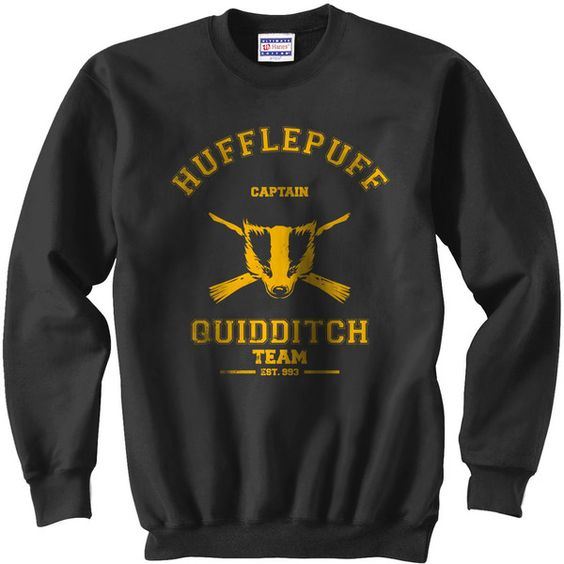 CAPTAIN Hufflepuff Quidditch team Unisex Sweatshirt S - 3XL ($28) ❤ liked on Polyvore featuring tops, hoodies, sweatshirts, harry potter, hufflepuff, sweatshirt, hogwarts, unisex hoodies, hooded sweatshirt and hoodie sweatshirts