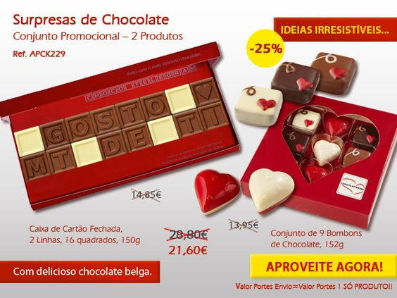 E uns corações de chocolate para agradar a alguém querido?  Os nossos corações são feitos com o mais delicioso chocolate Belga! http://www.mysweets4u.com/pt/?o=1,5,44,45,0,0