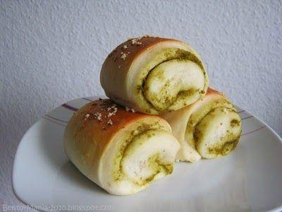 Bento-Mania.....verrückt nach der japanischen Lunch Box: Rezept: Leckere weiche Brötchen mit Pesto