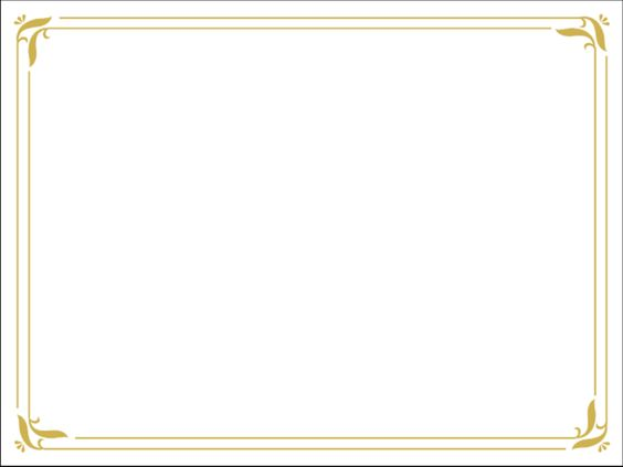 Download Simple gold certificate border PPT Template from the – Microsoft Word Certificate Borders