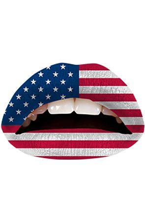 Violent Lips The American Flag Lip Tattoo : Karmaloop.com - Global Concrete Culture