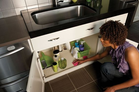 Protect cabinet base under sink from water damage for Kraftmaid coreguard